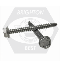 "#10-16x1 1/2"",(FT) INDENT HWH UNSLOT,#3 POINT BSD SELF DRILLING SCREWS HARDENED STAINLESS STEEL 410"