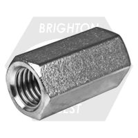 """1 1/8""""-7xW1 1/2""""xL3"""" HEX COUPLING NUTS 18-8 STAINLESS STEEL"""