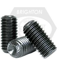 "#10-24x1 1/4"" UNC KNURLED CUP POINT SOCKET SET SCREWS KNURLED CUP POINT COARSE ALLOY THERMAL BLACK OXIDE"