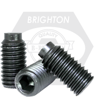 "#10-24x1/2"" SOCKET SET SCREWS 1/2 DOG POINT COARSE ALLOY THERMAL BLACK OXIDE"