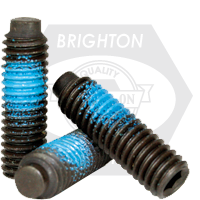 "#10-24x1/4"" SOCKET SET SCREWS 1/2 DOG POINT COARSE NYLON-PATCH THERMAL BLACK OXIDE"