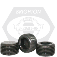 """1/2""""-14 PIPE PLUGS ALLOY DRY-SEAL 3/4"""" TAPER BLACK OXIDE USA"""