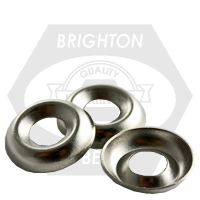 """1/4"""" COUNTERSUNK FINISHING WASHER NICKEL PLATED"""