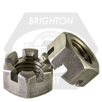 """1 1/4""""-7 SLOTTED FINISHED HEX NUTS PLAIN"""