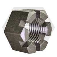 """1 1/2""""-6 SLOTTED HEAVY HEX NUTS COARSE PLAIN"""