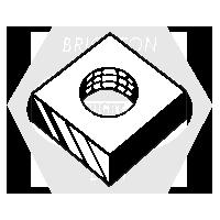 #10-32 SQUARE MACHINE SCREW NUTS ZINC CR+3