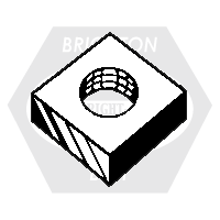#12-24 SQUARE MACHINE SCREW NUTS ZINC CR+3