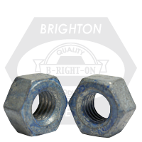 "1 1/2""-6 A563 HEAVY HEX NUT GRADE DH COARSE MED. CARBON HDG/WAX/BLUE DYE"