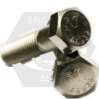 "7/16""-20x1 1/8"",(FT) UNF HEX CAP SCREWS FINE STAIN 316"