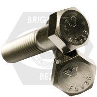 """1 1/8""""-7x14"""",6"""" THD UNC HEX CAP SCREWS COARSE STAIN 316"""