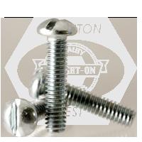 "#10-24x1 1/4"",(FT) MACHINE SCREW ROUND HEAD SLOTTED ZINC CR+3"