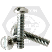 "#10-24x5 1/2"",(FT) MACHINE SCREW ROUND HEAD SLOTTED ZINC CR+3"
