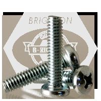 "#10-24x1 1/4"",(FT) MACHINE SCREW PAN HEAD PHILLIPS ZINC CR+3"