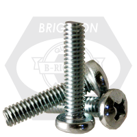 "#10-24x1 1/2"",(FT) MACHINE SCREW PAN HEAD PHILLIPS ZINC CR+3"