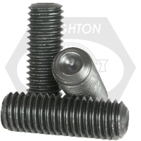 """#10-24x1 1/2"""" SOCKET SET SCREWS CUP POINT COARSE ALLOY THERMAL BLACK OXIDE"""