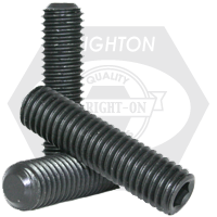 "#10-24x1"" NON-STANDARD SOCKET SET SCREWS FLAT POINT COARSE THERMAL BLACK OXIDE"