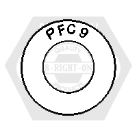 "1/4"" PFC9 USS THICK WASHER ZINC YELLOW CR+6 USA"