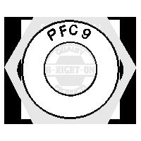 "1/2"" PFC9 USS THICK WASHER ZINC YELLOW CR+6 USA"