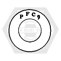"1/4"" PFC9 SAE THICK WASHER ZINC YELLOW CR+6 USA"