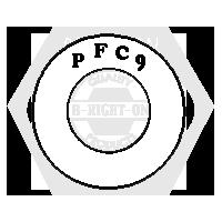 "1"" PFC9 SAE THICK WASHER ZINC YELLOW CR+6 USA"