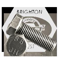 M16-2.00x30 MM,(FT) HEX CAP SCREWS 8.8 DIN 933 / ISO 4017 COARSE MED. CARBON PLAIN