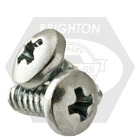"#10-24x1 1/4"",(FT) PAN HEAD PHIL THREAD ROLLING SCREWS ZINC CR+3/WAX"