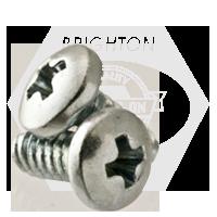 "#10-24x1 1/2"",(FT) PAN HEAD PHIL THREAD ROLLING SCREWS ZINC CR+3/WAX"