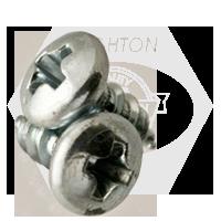 "#10-16x1 1/4"" PAN HEAD PHIL/SLOT COMBO TAPPING SCREWS TYPE AB ZINC CR+3"