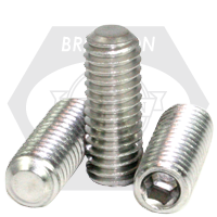 "#10-24x1/4"" SOCKET SET SCREWS FLAT POINT COARSE STAINLESS A2 18-8"