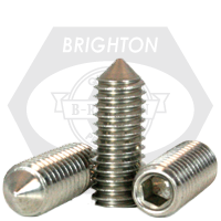 """#10-24x1/2"""" SOCKET SET SCREWS CONE POINT COARSE STAINLESS A2 18-8"""