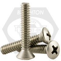 """#10-24x1"""",(FT) MACHINE SCREWS PHILIPS OVAL HEAD COARSE STAIN A2 18-8"""