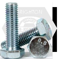 M16-2.00x190 MM,(PT) DIN931 / ISO4014 HEX CAP SCREWS 8.8 COARSE MED. CARBON ZINC CR+3