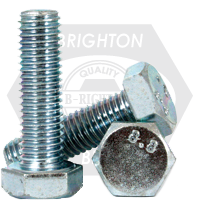 M8-1.25x22 MM,(FT) DIN933 / ISO4017 HEX CAP SCREWS 8.8 COARSE MED. CARBON ZINC CR+3