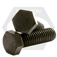 "7/8""-14x9 1/2"",(PT) HEX CAP SCREWS GRADE 5 FINE MED. CARBON PLAIN"