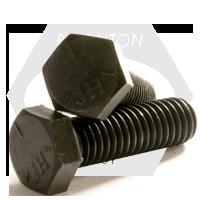 "1/4""-28x5 1/2"",(PT) HEX CAP SCREWS GRADE 5 FINE MED. CARBON PLAIN"
