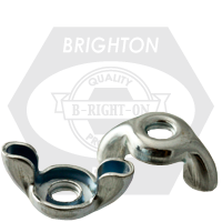 #10-24 TYPE D,STYLE 1 WING NUTS,STAMPED, COARSE LOW CARBON ZINC CR+3