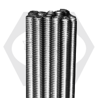 """1""""-8x3' B8 304 STAINLESS ALL THREAD RODS ASTM A193 CLASS 1"""