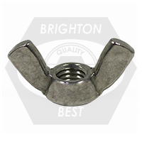 """1/4""""-20 TYPE A WING NUTS STAINLESS 316"""