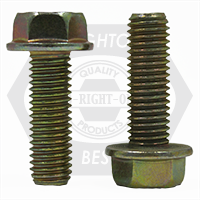"""1/2""""-13x1"""",(FT) INCH STAINLESS 18-8 HEX HEAD SERRATED FLANGE SCREW WITH WAX"""