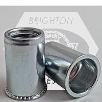 8-32 (.020-.080) Steel Small Flange Smooth Body Rivet Nut Zinc CR+3