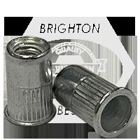 3/8-16 (.027-.150) Aluminum Small Flange Knurled Body Rivet Nut