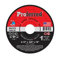 """4-1/2"""" x .045"""" x 7/8"""" Type 1 Cutoff Wheel, TA60U ABRASIVE CUT-OFF WHEELS AND CHOP SAW WHEELS"""