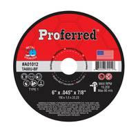 """6"""" x .045"""" x 7/8"""" Type 1 Cutoff Wheel, TA60U ABRASIVE CUT-OFF WHEELS AND CHOP SAW WHEELS"""