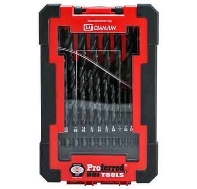 21 Piece M2 HSS Jobber Drill Bit Set (Box Case) PROFERRED HSS DRILL BIT SETS