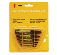 6 PC. SCREW EXTRACTOR SET SCREW EXTRACTOR SET
