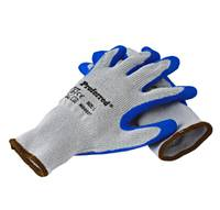 L BLUE LATEX / GRAY POLYESTER PROFERRED INDUSTRIAL GLOVES