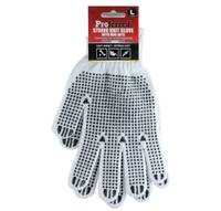 L POLY/COTTON KNITTED NATURAL COLOR W/ PVC DOTS PROFERRED INDUSTRIAL GLOVES