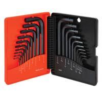 SAE (10 PCS) & METRIC (10 PCS) BLACK FINISH PROFERRED SHORT ARM HEX KEY SET