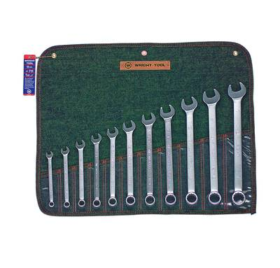 """11 Piece (3/8"""" - 1"""") 12 pt USA COMBINATION WRENCH SET"""