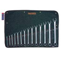 """14 Piece (3/8"""" - 1 1/4"""") 12 pt USA COMBINATION WRENCH SET"""
